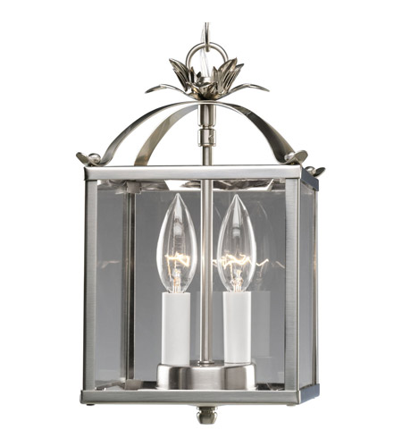 Progress Lighting Flat Glass 2 Light Hall & Foyer in Brushed Nickel P3690-09 photo