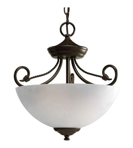 Progress Lighting Pavilion 2 Light Semi-Flush Mount in Antique Bronze P3738-20 photo