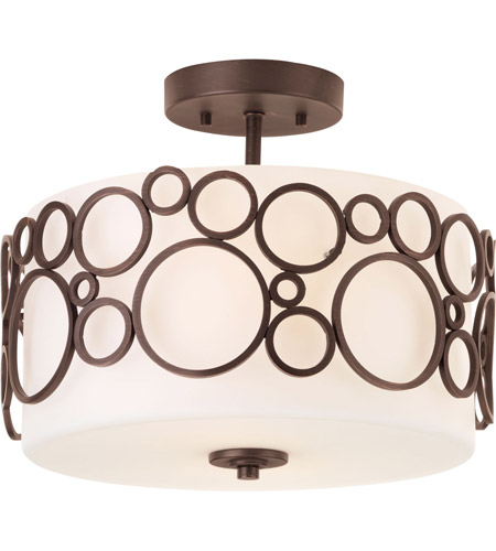 Progress P3741-74 Bingo 2 Light 14 inch Venetian Bronze Semi-Flush Mount Ceiling Light photo