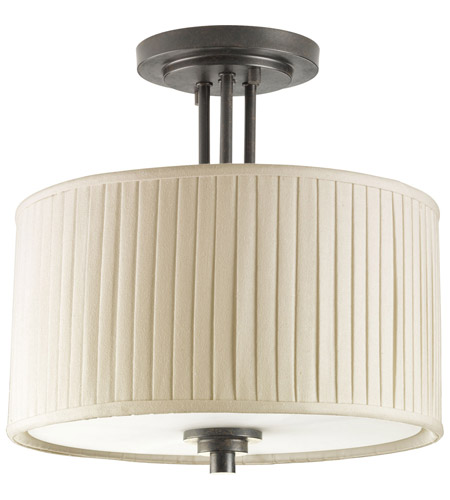 Progress P3759-84 Clayton 2 Light 13 inch Espresso Semi-Flush Mount Ceiling Light photo
