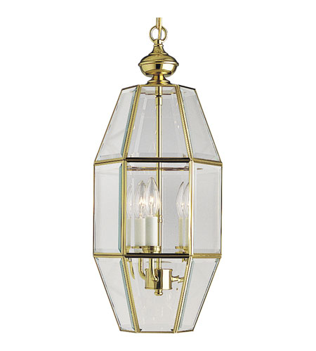 Progress Lighting Bound Beveled Glass 3 Light Hall & Foyer in Polished Brass P3766-10 photo