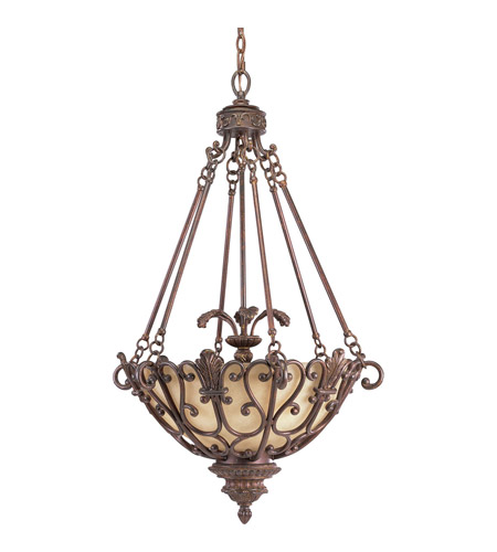 Progress P3809-75 Messina 3 Light 23 inch Aged Mahogany Hall & Foyer Ceiling Light photo