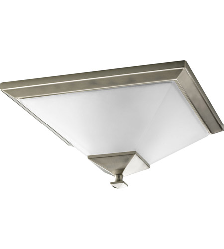 Progress P3852-09 North Park 2 Light 15 inch Brushed Nickel Close-to-Ceiling Ceiling Light photo