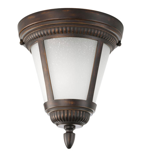 Progress P3883-20WB Westport 1 Light 9 inch Antique Bronze Outdoor Close-to-Ceiling Lantern in Bulbs Included, Etched Seeded photo