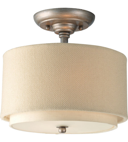 Progress P3886-134 Ashbury 2 Light 10 inch Silver Ridge Semi-Flush Mount Ceiling Light photo