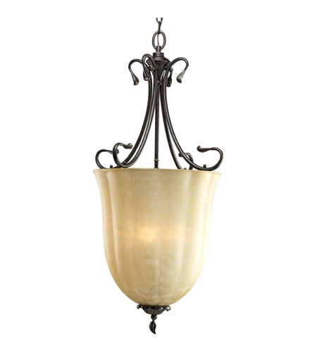 Progress P3901-84 Timberbrook 3 Light 18 inch Espresso Hall & Foyer Ceiling Light photo