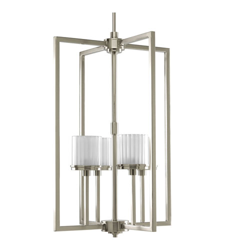 Progress p3915 09wb encore 4 light 18 inch brushed nickel hall foyer ceiling light