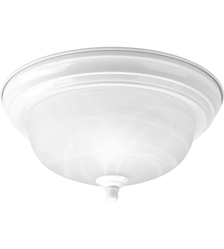 Progress Lighting Alabaster 1 Light Flush Mount in White P3924-30 photo