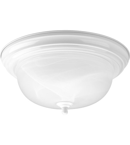 Progress P3925-30 Alabaster 2 Light 13 inch Textured White Flush Mount Ceiling Light in 13-1/4