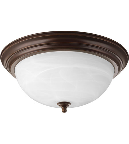 Progress P3926-20EBWB Alabaster 3 Light 15 inch Antique Bronze Flush Mount Ceiling Light in Bulbs Included photo
