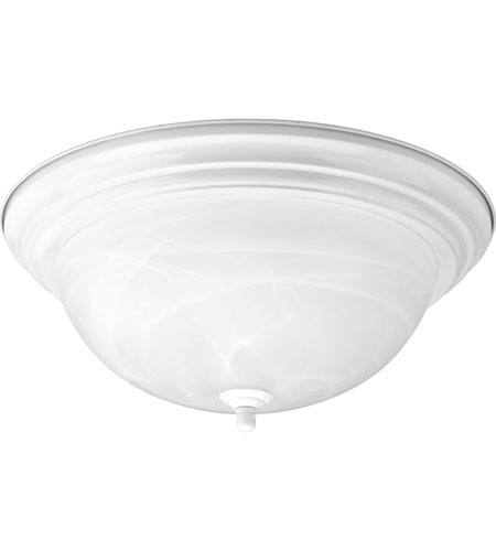 Progress Lighting Alabaster 3 Light Flush Mount in White P3926-30EBWB photo