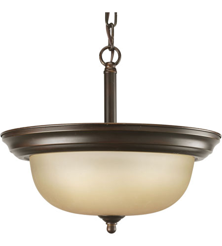 Progress P3927-20T Alabaster 2 Light 13 inch Antique Bronze Semi-Flush Mount Ceiling Light in Bulbs Not Included, Etched Light Topaz Glass photo