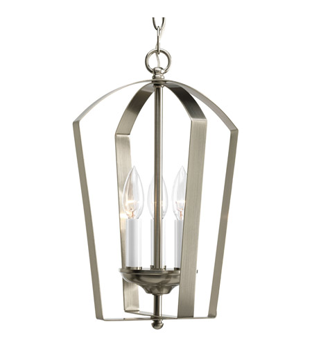 Progress Lighting Gather 3 Light Hall & Foyer in Brushed Nickel P3928-09 photo