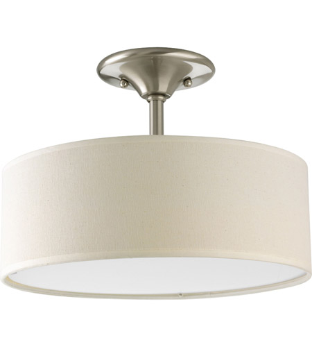 Progress P3939-09 Inspire 2 Light 13 inch Brushed Nickel Chandelier Ceiling Light photo