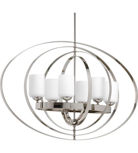 Equinox 6 Light 39 Inch Polished Nickel Foyer Pendant Ceiling