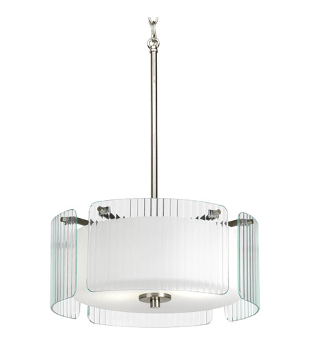 Progress Lighting Coupe 2 Light Pendant in Brushed Nickel P3979-09 photo