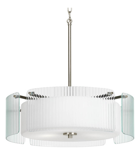 Progress P3980-09 Coupe 3 Light 20 inch Brushed Nickel Pendant Ceiling Light photo
