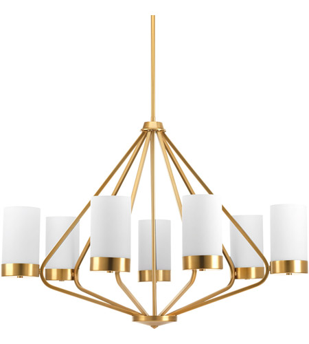 Progress P400023-109 Elevate 7 Light 33 inch Brushed Bronze Chandelier Ceiling Light, Design Series photo thumbnail