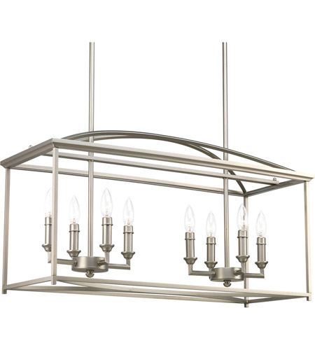 Progress P400033 126 Piedmont 8 Light 12 Inch Burnished Silver Chandelier Ceiling