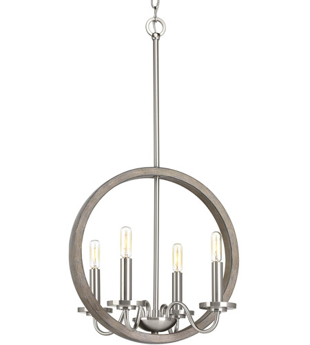 Brushed Nickel Steel Fontayne Chandeliers