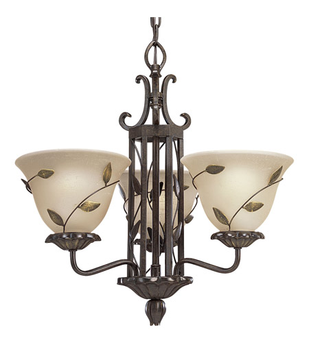 Progress Lighting Eden 3 Light Chandelier In Forged Bronze P4022 77