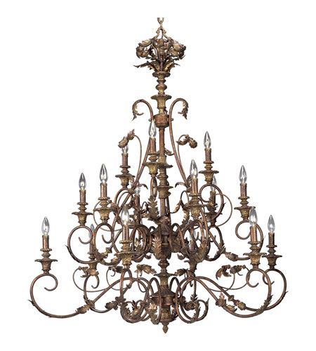 Progress Lighting Thomasville Elysian 15 Light Chandelier in Golden Brandy P4028-02 photo
