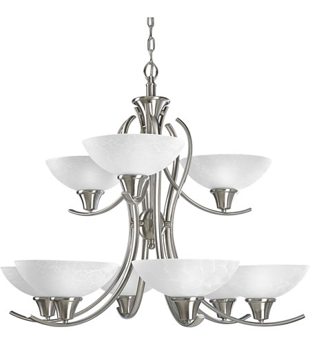 Progress Lighting Sentura 9 Light Chandelier in Brushed Nickel P4066-09 photo