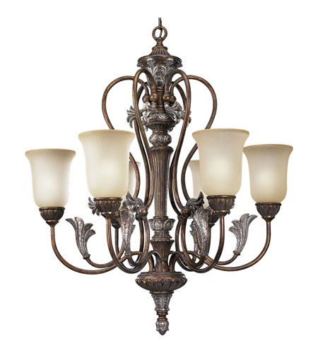 Progress P4092-55 Carmel 6 Light 32 inch Tuscany Crackle Chandelier Ceiling Light photo