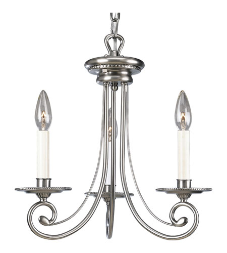 Progress Lighting Bradford 3 Light Chandelier in Antique Nickel P4096-81 photo