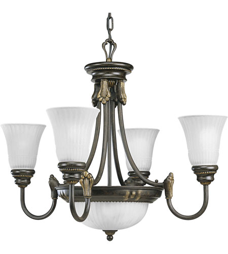 Progress Lighting Huntington 4 Light Chandelier in Forged Bronze P4109-77 photo