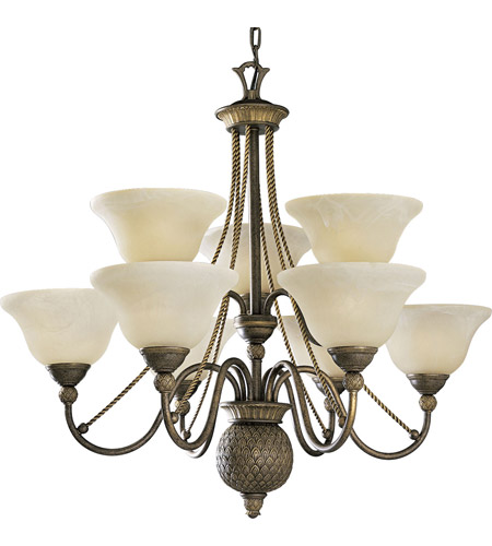 Progress Lighting Savannah 9 Light Chandelier in Burnished Chestnut P4121-86 photo