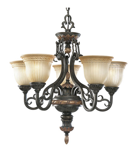 Progress Lighting Thomasville Provence 5 Light Chandelier in Old Iron Crackle P4126-92C photo