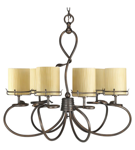 Progress Lighting Thomasville Willow Creek 6 Light Chandelier in Weathered Auburn P4132-114 photo