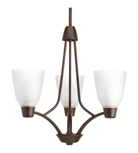 Progress P4171-20 Asset 3 Light 20 inch Antique Bronze Chandelier Ceiling Light in Bulbs Not Included photo