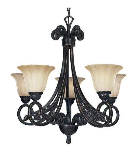 Progress Lighting Le Jardin 5 Light Chandelier in Espresso P4201-84 photo