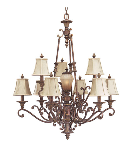 Progress P4256-02C Beaumont 10 Light 34 inch Golden Brandy Crackle Chandelier Ceiling Light photo