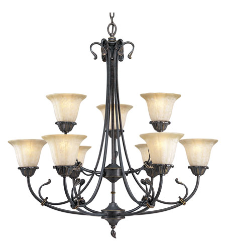 Progress Lighting Timberbrook 9 Light Chandelier in Espresso P4287-84 photo