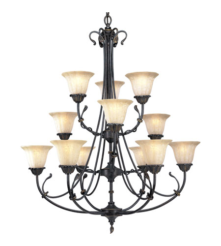 Progress Lighting Timberbrook 12 Light Chandelier in Espresso P4300-84 photo