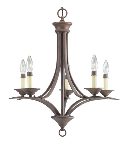 Progress Lighting Trinity 5 Light Chandelier in Cobblestone P4327-33 photo