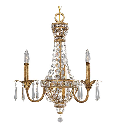 Progress Lighting Thomasville Palais 3 Light Chandelier in Imperial Gold P4337-63 photo