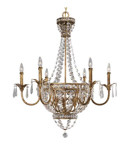 Progress P4338-63 Palais 9 Light 34 inch Imperial Gold Chandelier Ceiling Light photo