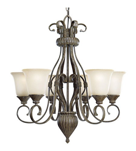 Progress Lighting Maison Orleans 6 Light Chandelier in Fieldstone P4374-87 photo
