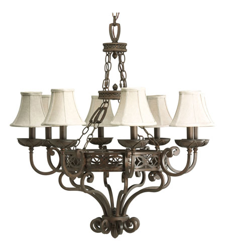 Progress P4382-102 Sanabria 8 Light 32 inch Roasted Java Chandelier Ceiling Light photo