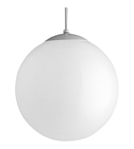Progress P4403-29 Opal Globe 1 Light 12 inch Satin White Pendant Ceiling Light photo