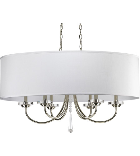 Progress P4431-104 Nisse 6 Light 36 inch Polished Nickel Chandelier Ceiling Light photo