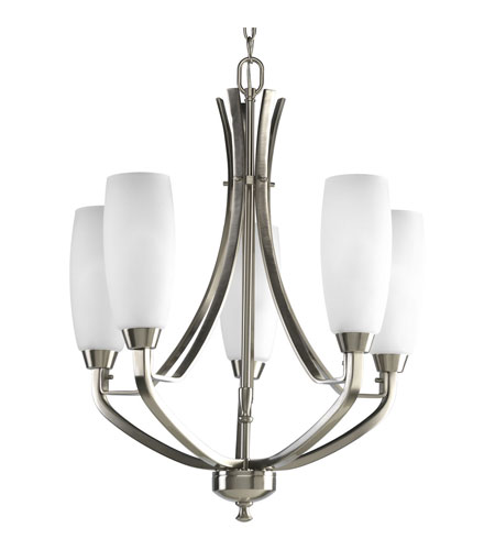 Progress Lighting Wisten 5 Light Chandelier in Brushed Nickel P4436-09EBWB photo