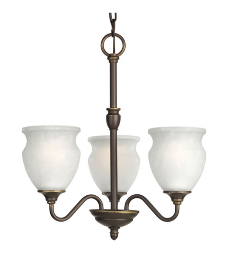 Progress P4445-20 Richmond Hill 3 Light 17 inch Antique Bronze Chandelier Ceiling Light photo