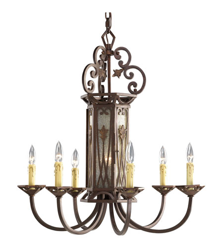 Progress P4454-75 Drayton Hall 6 Light 28 inch Aged Mahogany Chandelier Ceiling Light photo