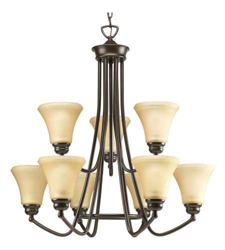 Progress Lighting Janos 9 Light Chandelier in Antique Bronze P4488-20 photo