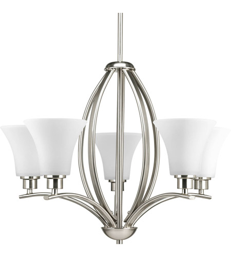 Progress p4490 09 joy 5 light 24 inch brushed nickel chandelier progress p4490 09 joy 5 light 24 inch brushed nickel chandelier ceiling light in etched aloadofball Image collections